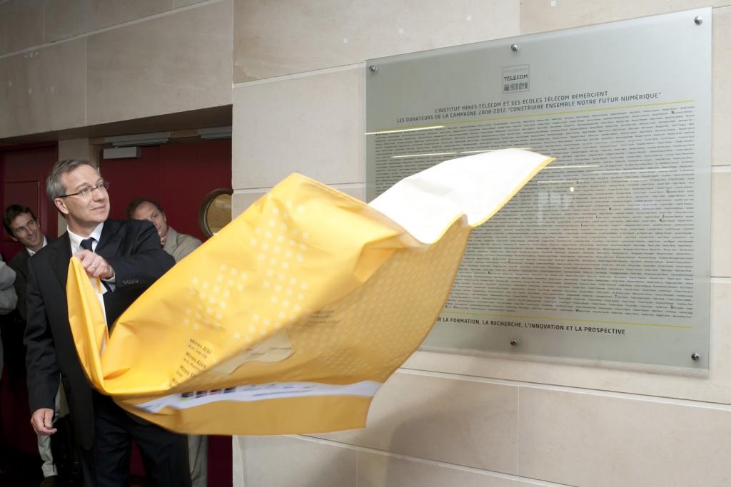 Inauguration du mur des donateurs