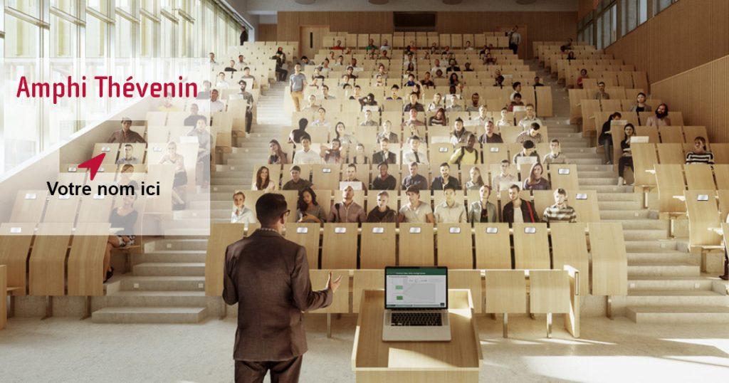 amphi Thévenin signez votre siège